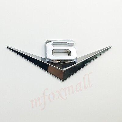 Auto car Chrome V6 V 6 Emblem Badge Sticker