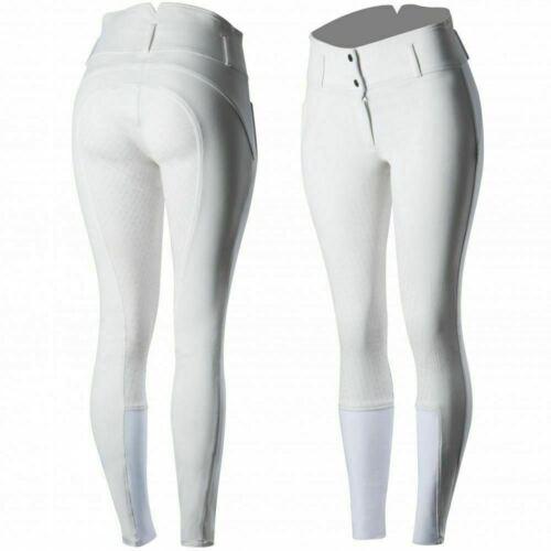 Horze Daniela Women/'s Cotton Silicone Full Seat Breeches With High Waistband
