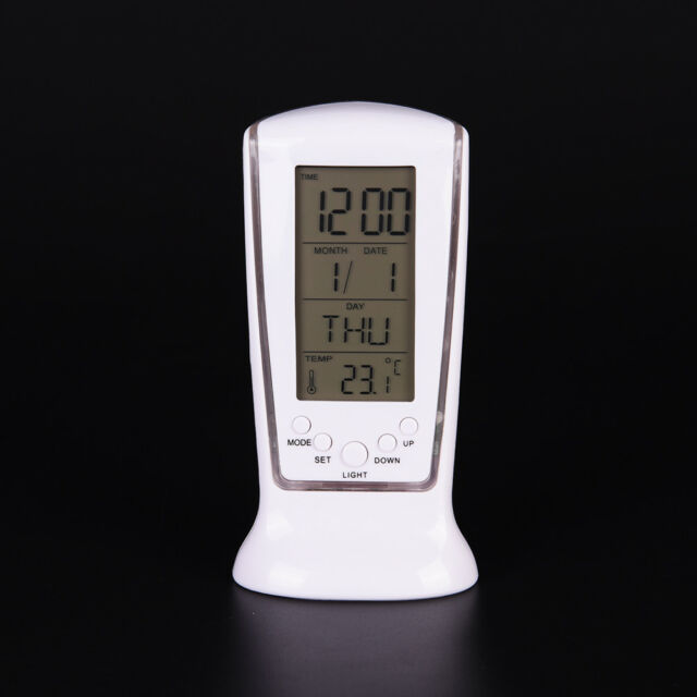 LED Digital Table Alarm Clock with Backlight Electronic Calendar Thermometer ke
