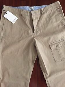 MICHAEL-BASTIAN-FOR-DOCKER-039-S-KHAKI-CLASSIC-CHINO-PANTS-W38x-34