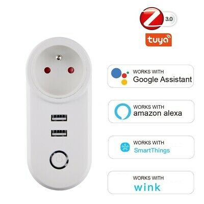 Tuya Smart Charger USB Socket Wifi Plug Wireless Power Smart Outlet Remote Timer