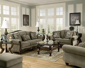 Martinsburg Ashley Traditional Sofa, Love Seat & Chair 3 Pc Living ...