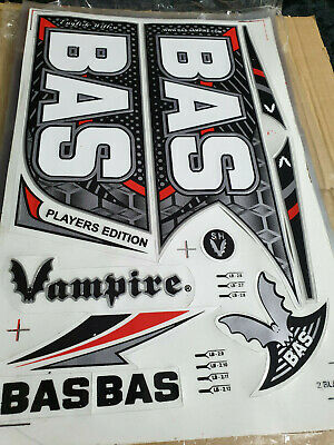 3d Embossed Bas Vampire Player Ed Red Cricket Bat Sticker 1 2d Sticker Free Ebay