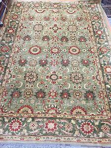 "9'7"" x 13'5"" Pakistani Peshawar Agra Design Oriental Rug - Hand Made - 100% Wool"