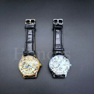 40-MM-Movement-Open-Work-Skeleton-Automatic-Alligator-Leather-Watch-Honcos-Black