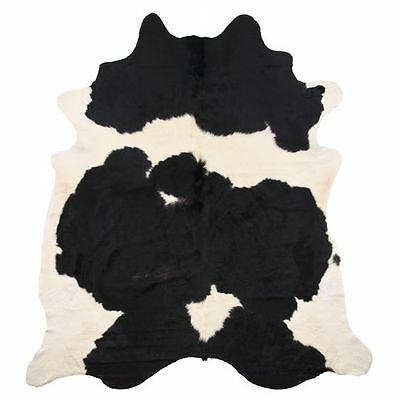 NEW NSW Leather Co Natural Cowhide Rug, Black/Golden