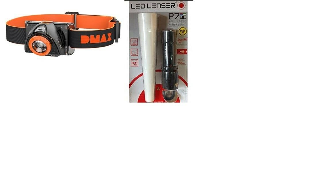 LED LENSER P7 QC + + + BUDDY DX Stirnlampe 62f386