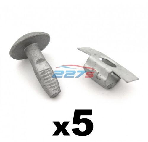 PEUGEOT e CITROEN Motore Undertray Shield /& Pannello Clip 5x Bulloni /& 5x Fermagli