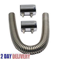 KKmoon Radiator Hose Kit 24 Flexible Upper Lower Radiator Hose Kit /& Stainless Steel w//Chrome Caps V8