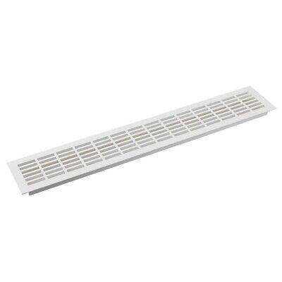 Weiß Aluminium Lüftungsgitter Grill Einbau Geräte Möbel Belüftung Abdeckung