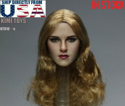"IN STOCK 1//6 Female Head Sculpt Long Blonde Hair C For 12/"" PHICEN Figure U.S.A"
