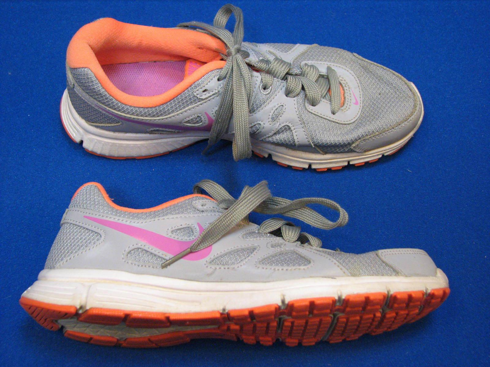 8.5 M NIKE Womens Ladies Gray Orange Pink Revolution 2 Wolf Atomic Running Shoes Comfortable and good-looking