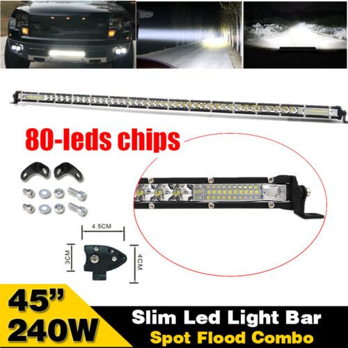"8D LENS 45/"" INCH 240W SLIM LED Work Light Bar Combo Offroad Truck 4X4 Car 44/"""