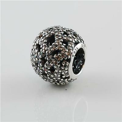 Authentic Genuine Pandora Silver Clear Cz Shimmering Lace Charm 791284CZ