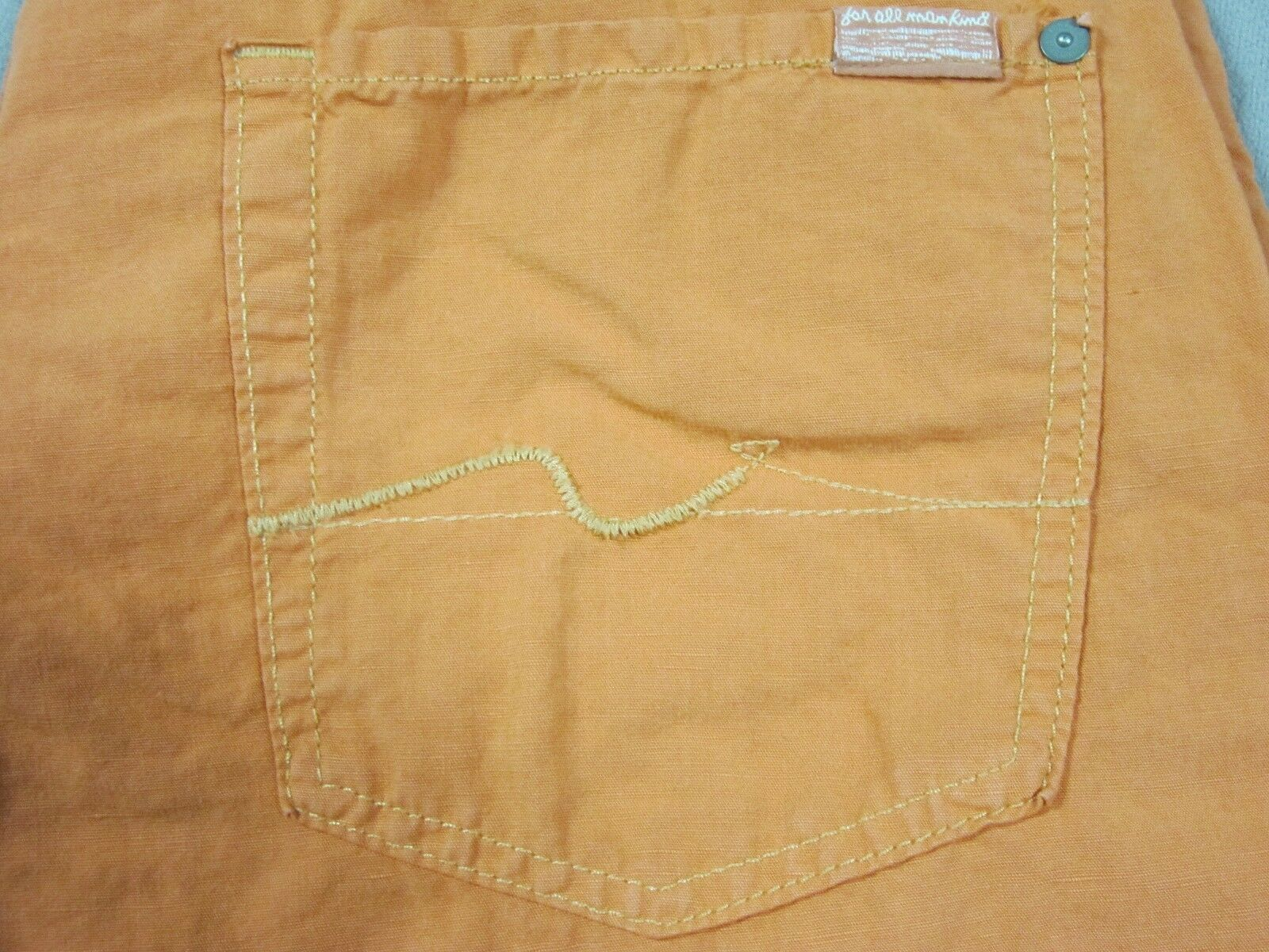 SEVEN 7 FOR ALL MANKIND MENS STANDARD FIT orange SALMON LINEN PANTS SIZE 32 NEW