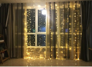 3M-300LED-Warm-White-String-Light-Curtain-Fairy-Window-Xmas-Party-Garden-Wedding