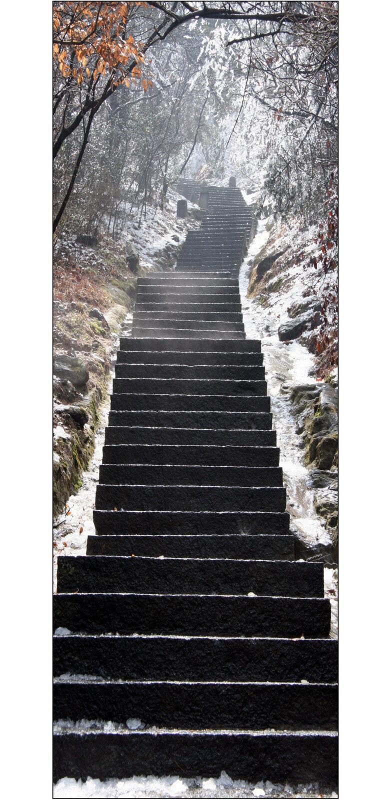 Plakat Plakat Tür Deko Schein Auge Treppe Winter Ref 617 - 4 Größe