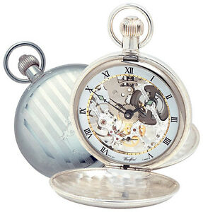 Jewelry & Watches Watches, Parts & Accessories Woodford Sterling Silver Swiss 17 Jewel Mechanical Twin Lided Pocket Watch 1065