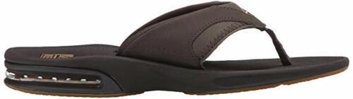 Man Reef Fanning Flip Flop Sandal RF2026 Brown//Gum 100/% Authentic Brand New