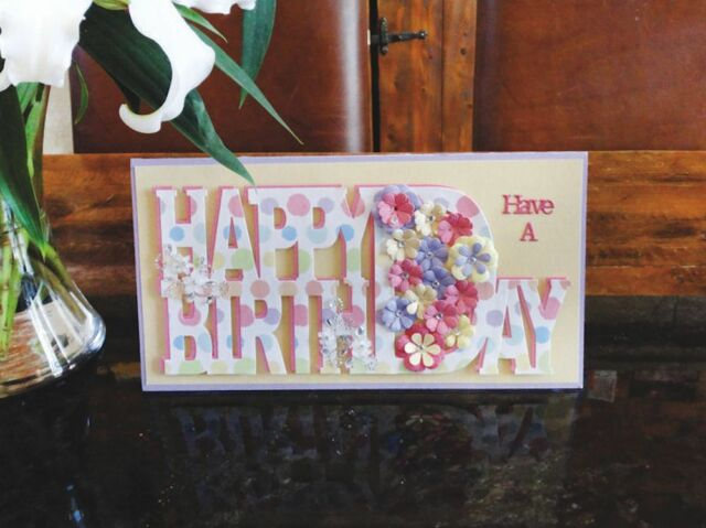 Tattered Lace Dies ~ Monumental Moments Happy Birthday TTLMON01 ~ NIP