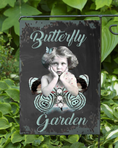 Butterfly Garden  Double Sided Soft Flag     **GARDEN SIZE**   FG1037
