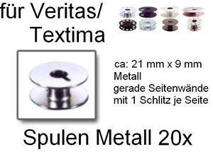 Spulen-fuer-viele-Veritas-Textima-Metall-Schlitz-21-x-9-mm-20-Stueck-neu