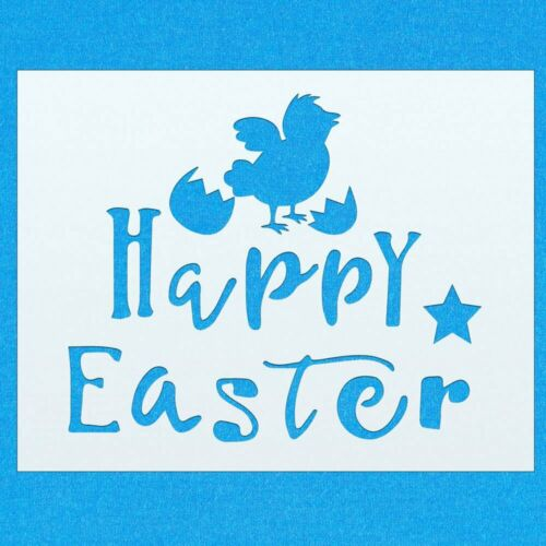 Happy Easter Holiday Chick Quote Mylar Airbrush Painting Wall Art Crafts Stencil