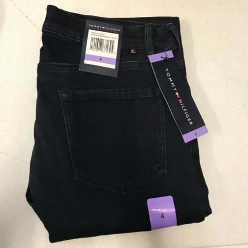 4 NEW Women/'s TOMMY HILFIGER Greenwich Straight Midnight Blue Jeans Size 2