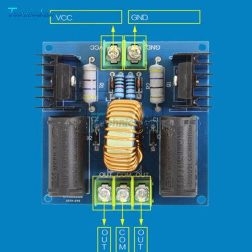12V-30V 10A 200W ZVS Tesla Coil Driver Generator Board High Voltage Power Supply