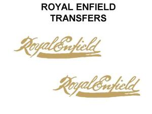 Royal-Enfield-Tank-Transfers-Decals-Motorcycle-Gold-Script