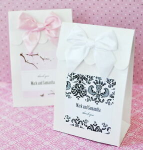 Image Is Loading 144 Personalized Elite Damask Wedding Favor Bags Candy