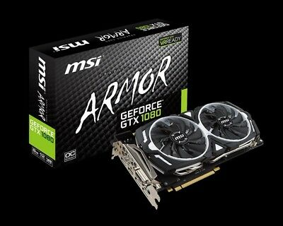 slightly used armor msi 1080 gtx oc nvidia geforce graphics card gpu vr ready ebay ebay