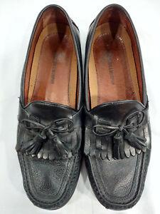 452bd38ff7d96 Details about Johnston   Murphy Mens Black Moc Toe Aragon II Kiltie Tassel  Loafer Size 10.5 M