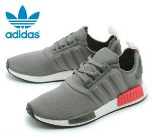 pierna comienzo Impuro  Adidas Originals NMD R1 Grey Four Shock Red White Boost BD7730 Men's US 10  Shoes   eBay