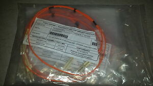 Lot-10-X-Cable-reseaux-Jarretiere-LC-LC-duplex-1M-62-5-125-orange-2mm-NEUF