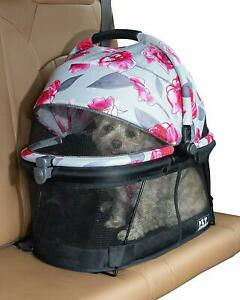 Pet-Gear-VIEW-360-Dog-Cat-Pet-Carrier-Car-Seat-in-One-Floral