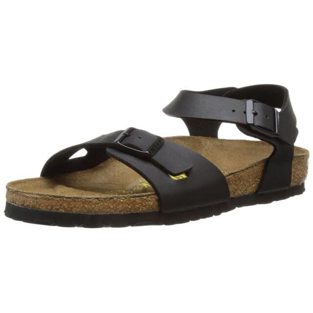 5183b0ae865 Birkenstock Rio Black Womens Birko-Flor SlingBack Strapped Sandals