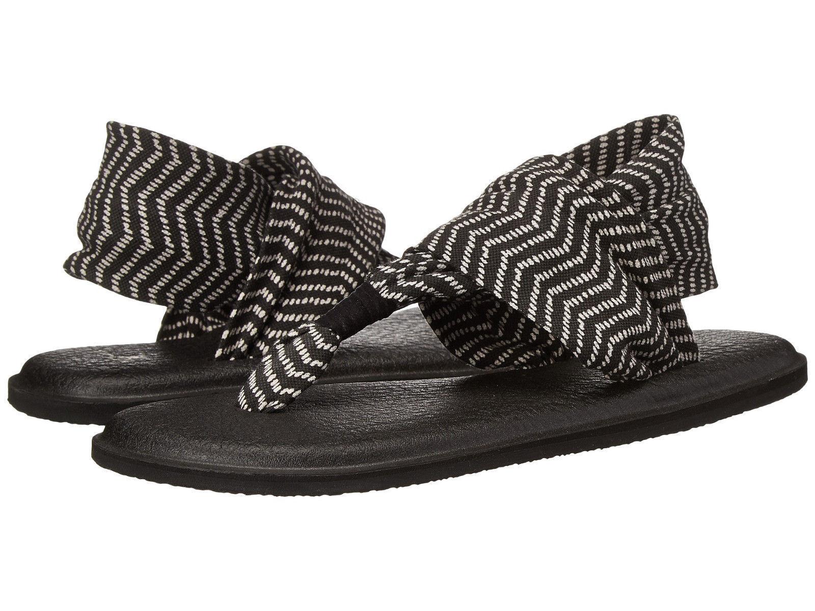 Sanuk Women's Yoga Sling 2-Flip-Flop-Sandal-SWS10535 Black Natural Congo New