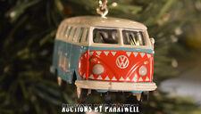 Custom Volkswagen Surfer Bus Christmas Ornament VW Samba Van 1/64th Camper T1 T2