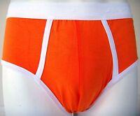 Mens Boys Fun Fashion Underwear Orange Briefs Short No Fly 2o2 Medium A1
