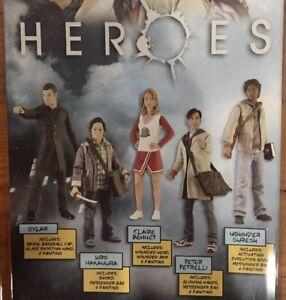 Heroes-Series-1-set-de-5-figurines-Mezco-NBC-TV-claire-Skylar