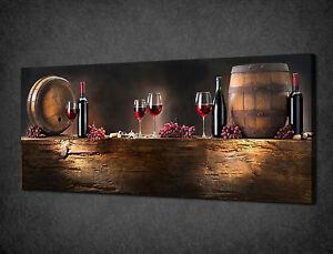 Stampe Da Cucina : Bottiglie di vino vintage barili cucina stampa tela wall art picture