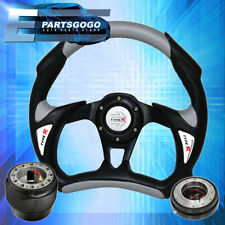 For Nissan 300zx Z32 Black Italian Leather Steering Wheel Cover