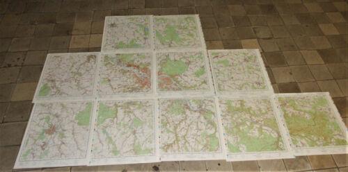 Konvolut NVA Topographische Karten Großraum Dresden 11 Blatt 1:50000 wie neu