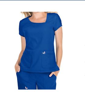 Koi Mariposa Medical Scrub Set Maddi Pant 727 /& Tara Top 363 Small Royal New
