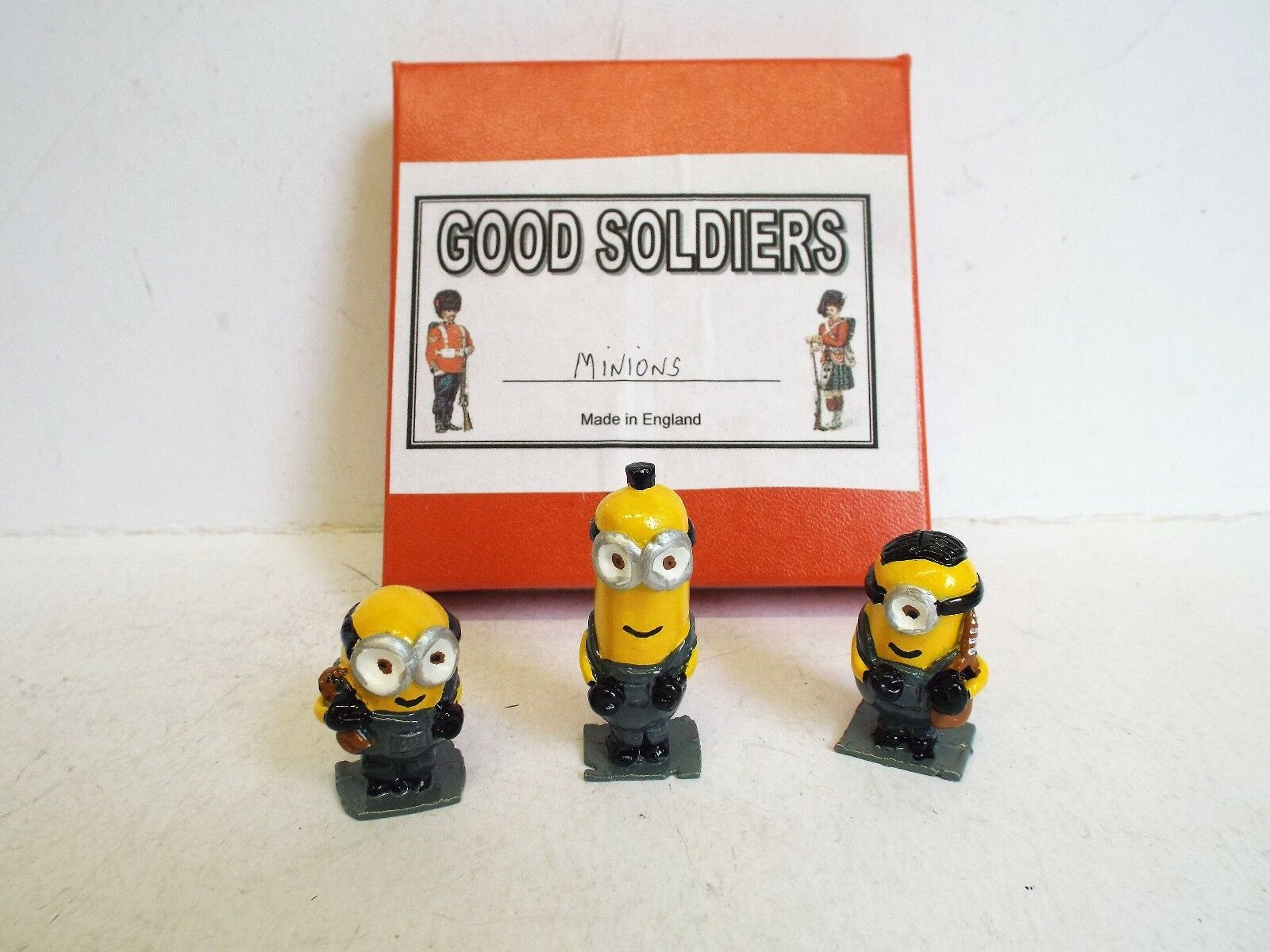 GOOD SOLDIERS RARE 3 X MINIONS SET METAL GLOSSY LIMITED SET 54MM BOXED (BS1497)
