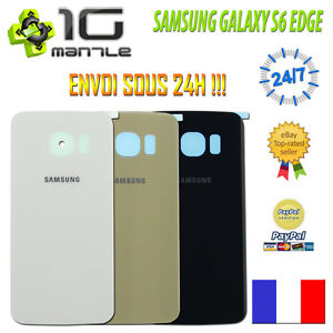 Vitre-Arriere-Cache-Capot-Batterie-SAMSUNG-GALAXY-S6-EDGE-G925-Adhesif-Colle