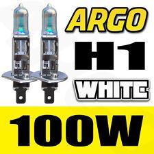 2X WHITE H1 100W HALOGEN CAR DRIVING HEADLIGHT FOG LIGHT BULBS 12V UK