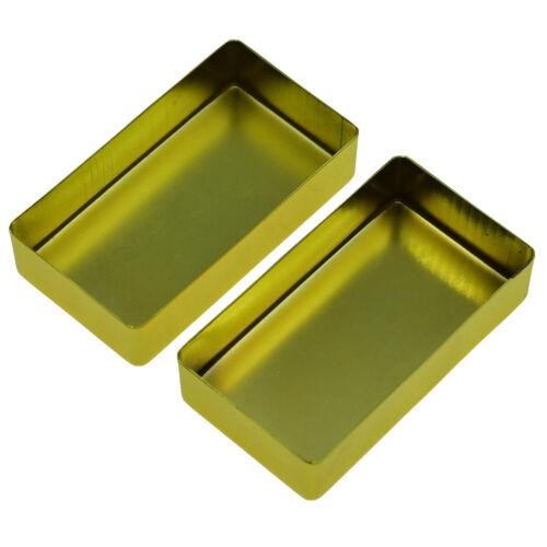 Set of 2 Electric Guitar//Bass Brass Humbucker Pickup Cover No Holes Chrome//Gold