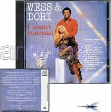 "WESS & DORI GHEZZI ""I NOSTRI SUCCESSI"" RARO CD '90 CDOR"